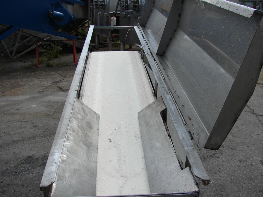 Conveyor inclined belt conveyor 16 w x 76 l, 43 discharge height2