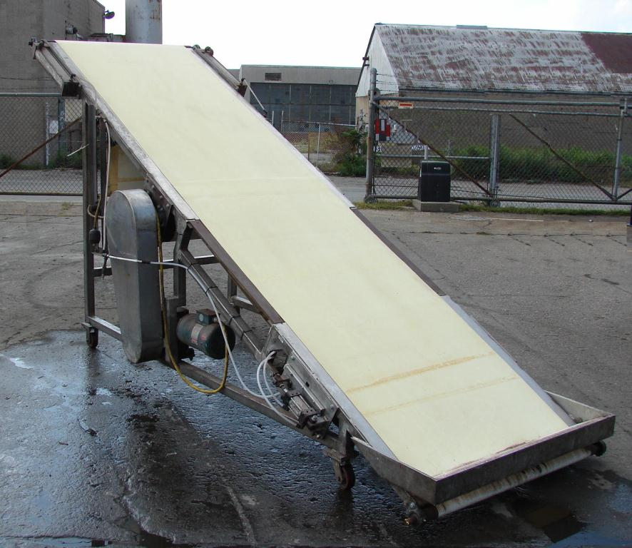 Conveyor inclined belt conveyor Stainless Steel Contact Parts, 40 x 13, 78 discharge height1
