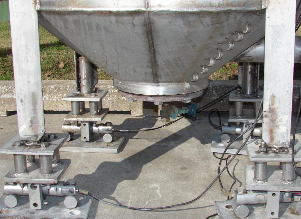 Tank 350 gallon vertical tank, Stainless Steel, conical bottom3