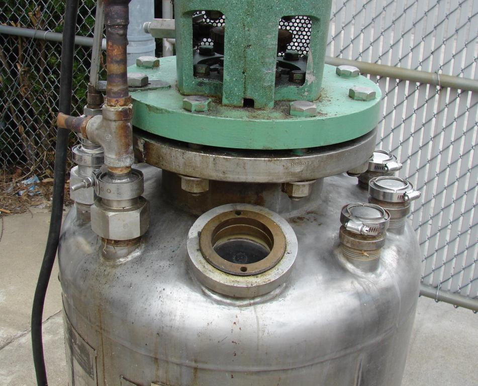 Reactor 50 gallon HC Hicks & Sons chemical reactor, 50 psi internal, 125 psi jacket, 3/4 hp agitator8
