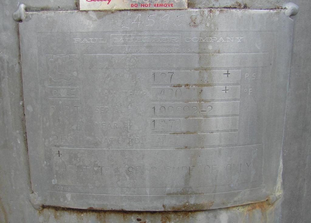 Reactor 50 gallon HC Hicks & Sons chemical reactor, 50 psi internal, 125 psi jacket, 3/4 hp agitator5
