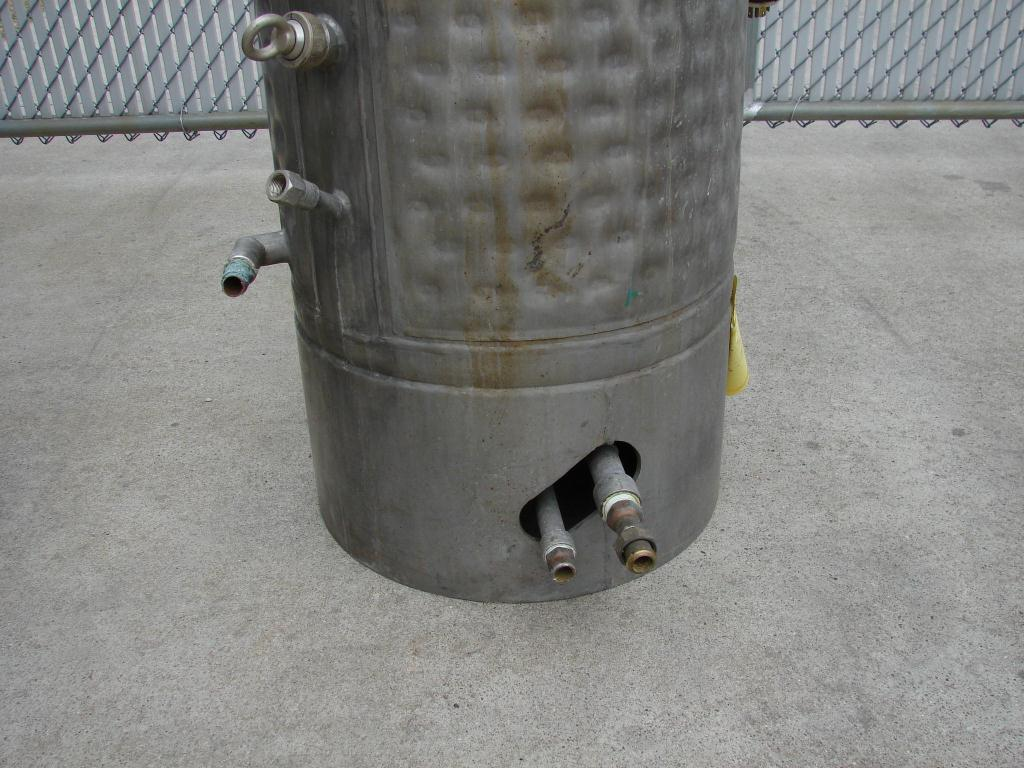 Reactor 50 gallon HC Hicks & Sons chemical reactor, 50 psi internal, 125 psi jacket, 3/4 hp agitator6