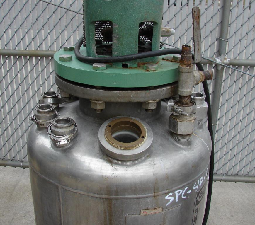 Reactor 50 gallon HC Hicks & Sons chemical reactor, 50 psi internal, 125 psi jacket, 3/4 hp agitator7