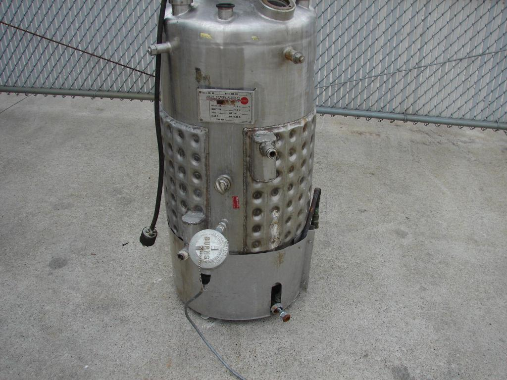 Reactor 50 gallon Alloy Crafts chemical reactor, 50 psi internal, 125 psi jacket, 3/4 hp agitator4