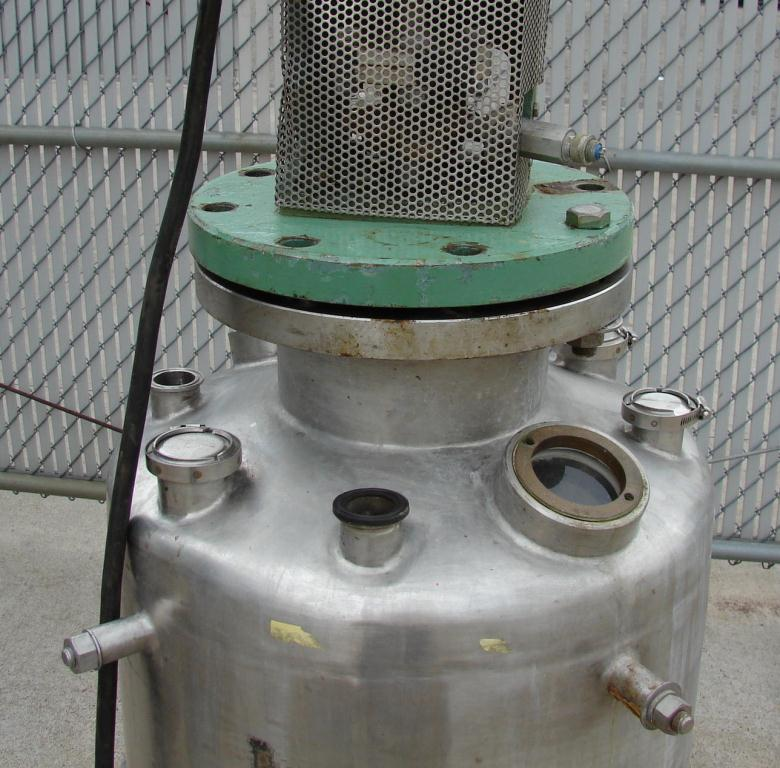 Reactor 50 gallon Alloy Crafts chemical reactor, 50 psi internal, 125 psi jacket, 3/4 hp agitator5