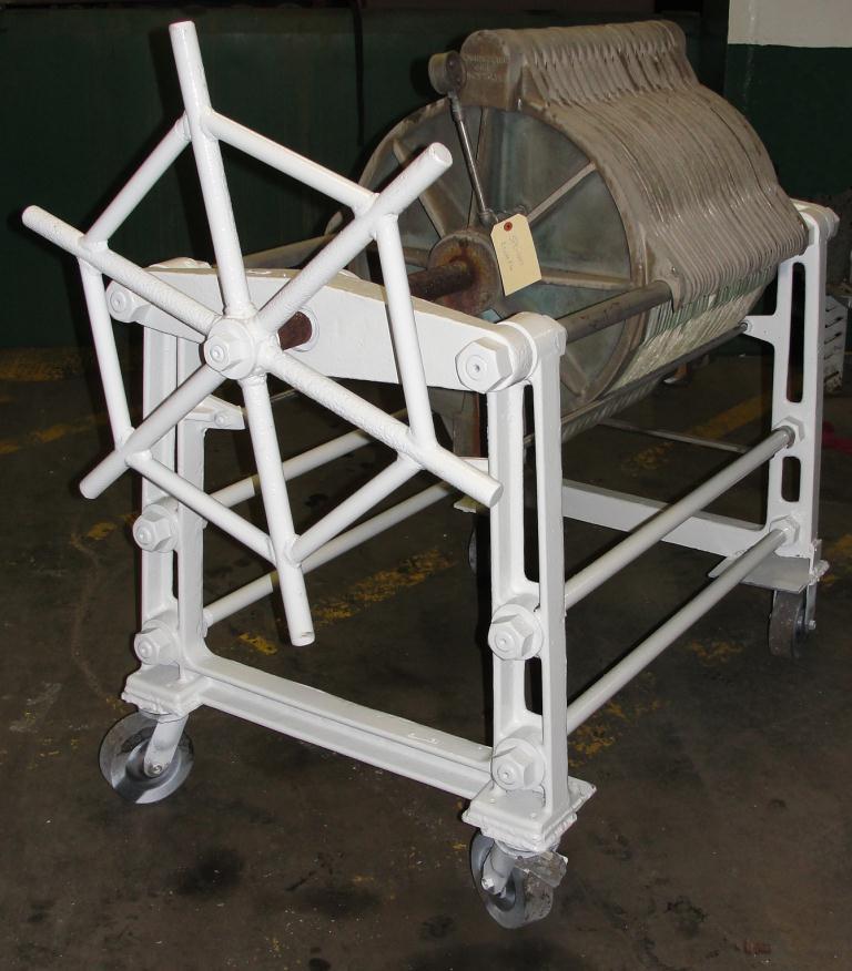 Filtration Equipment 78 sq.ft. Ertel plate and frame filter model EX, Brass, 35 plates, 2.5 cu.ft. capacity2