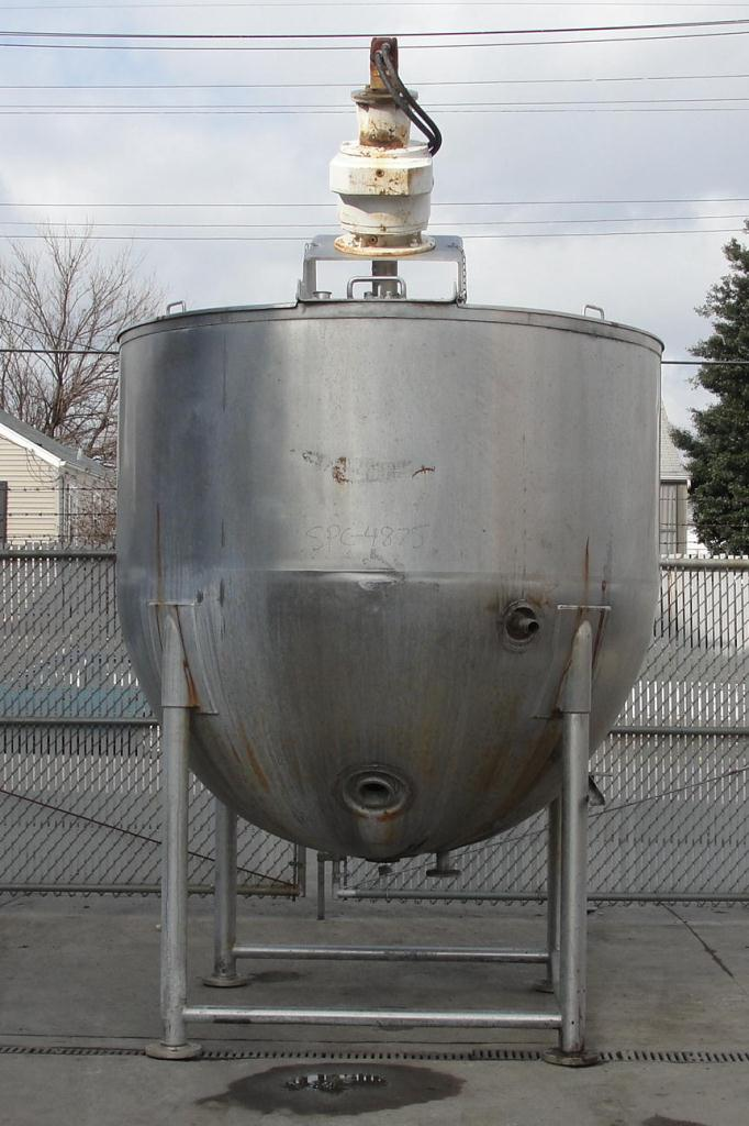 Kettle 1000 gallon Lee hemispherical bottom kettle, anchor sweep agitator, 40 psi jacket rating, Stainless Steel1