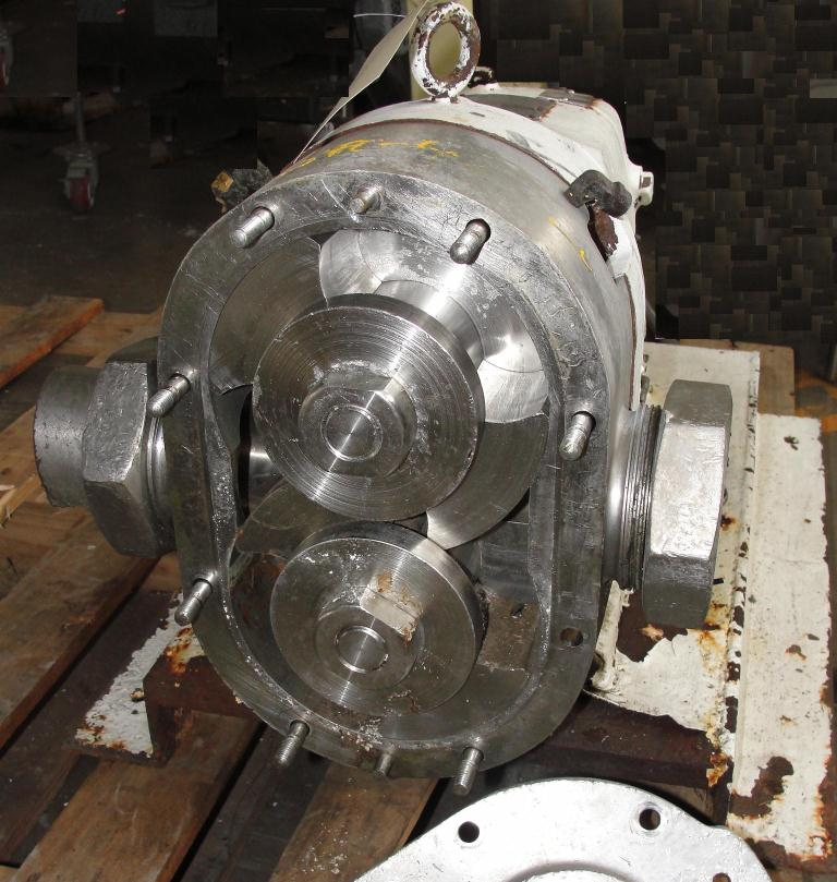Pump 3 inlet Waukesha positive displacement pump model 130, Stainless Steel2