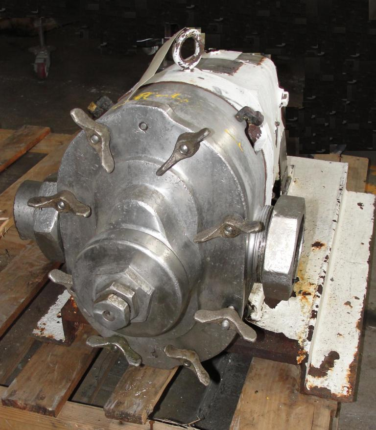 Pump 3 inlet Waukesha positive displacement pump model 130, Stainless Steel3