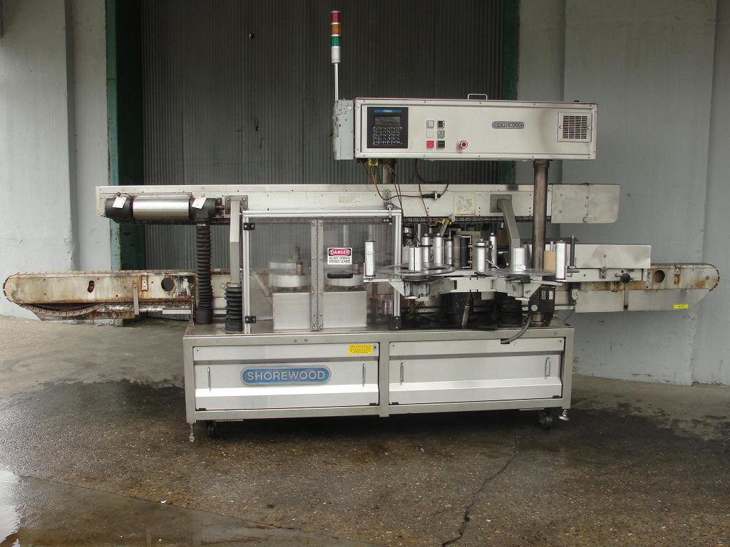 Labeler Shorewood pressure sensitive labeler model 4100, front & back, 300 cpm1