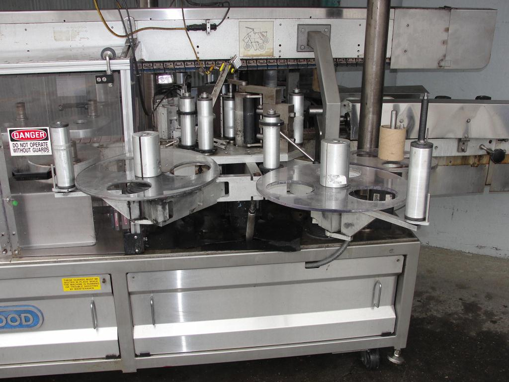 Labeler Shorewood pressure sensitive labeler model 4100, front & back, 300 cpm7