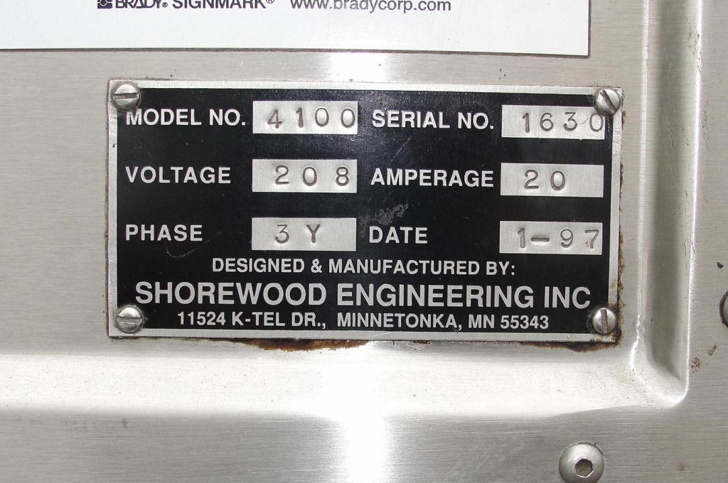 Labeler Shorewood pressure sensitive labeler model 4100, front & back, 300 cpm9