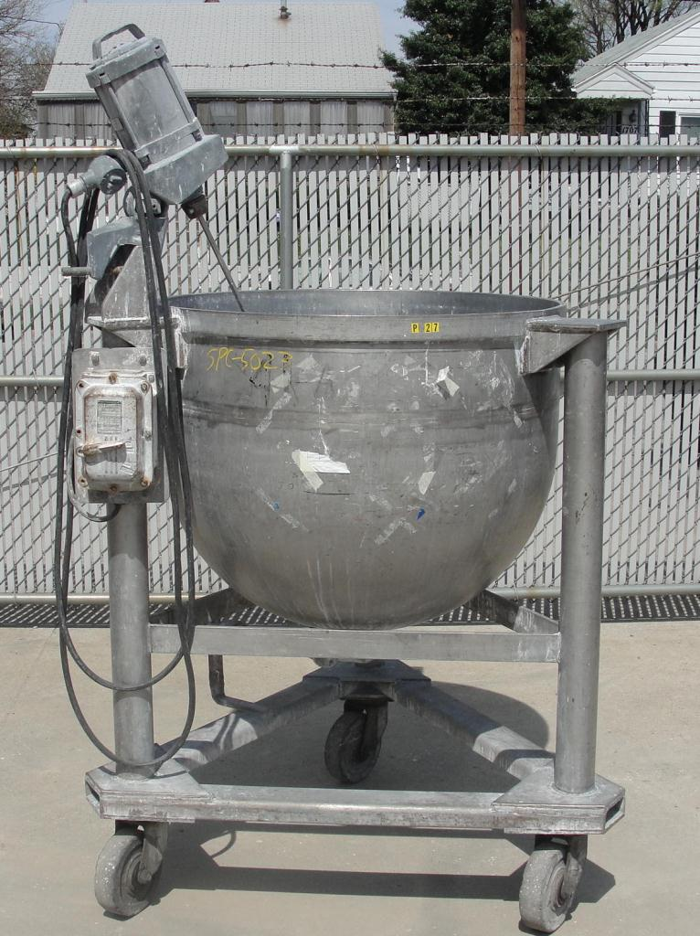 Tank 100 gallon vertical tank, Stainless Steel, .3 hp agitator, hemispherical bottom1