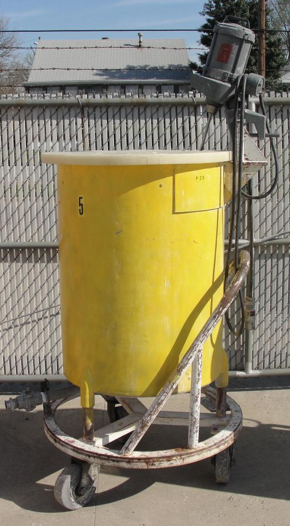 Tank 100 gallon vertical tank, Stainless Steel, 1/3 hp agitator, flat bottom1