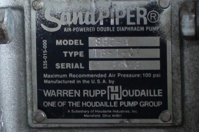 Pump 2 SandPiper diaphragm pump, CS4