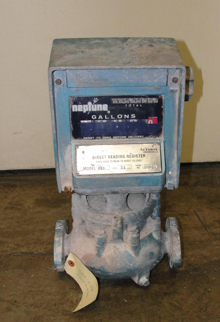 Valve 1 Neptune model 831 liquid flow meter, Brass1