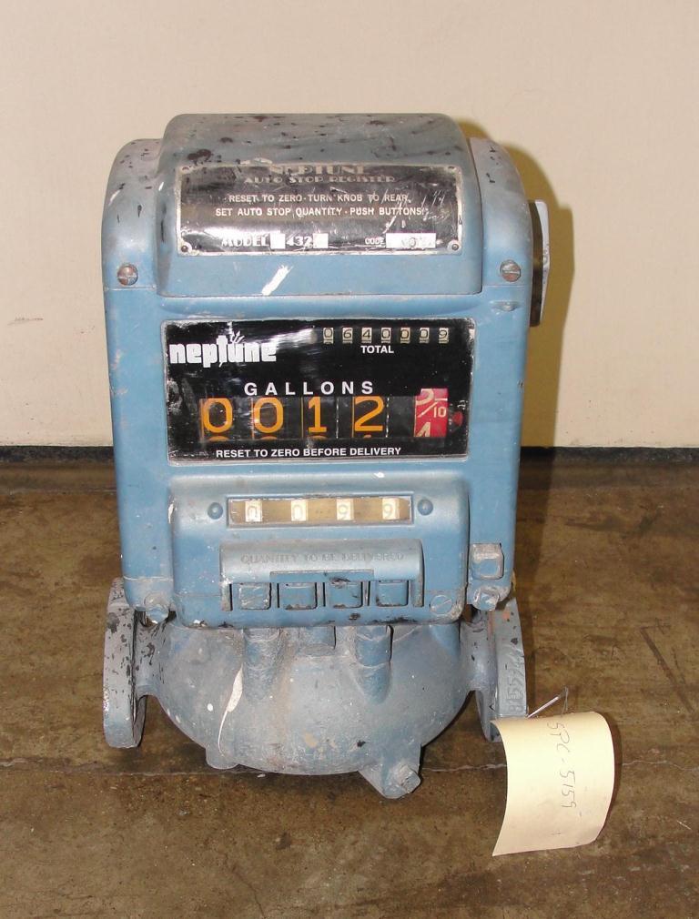 Valve 1 Neptune model 432 liquid flow meter, Brass1
