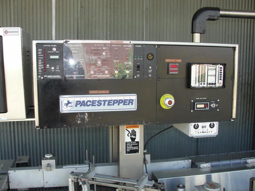 Labeler New Jersey pressure sensitive labeler model Pacestepper 331L, wrap around5