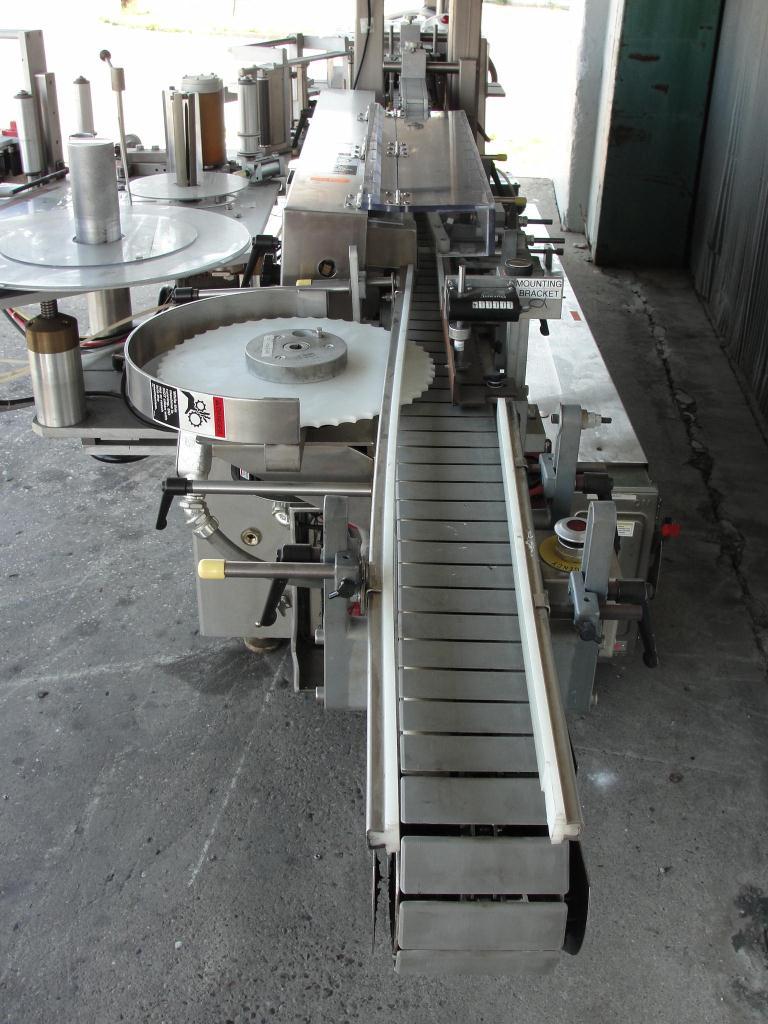 Labeler New Jersey pressure sensitive labeler model Pacestepper 331L, wrap around7