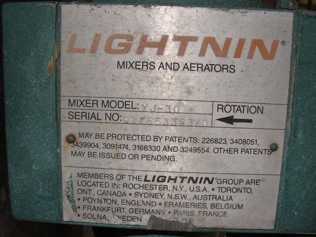 Agitator .3 hp electric Lightnin clamp-on agitator, model XJ-303