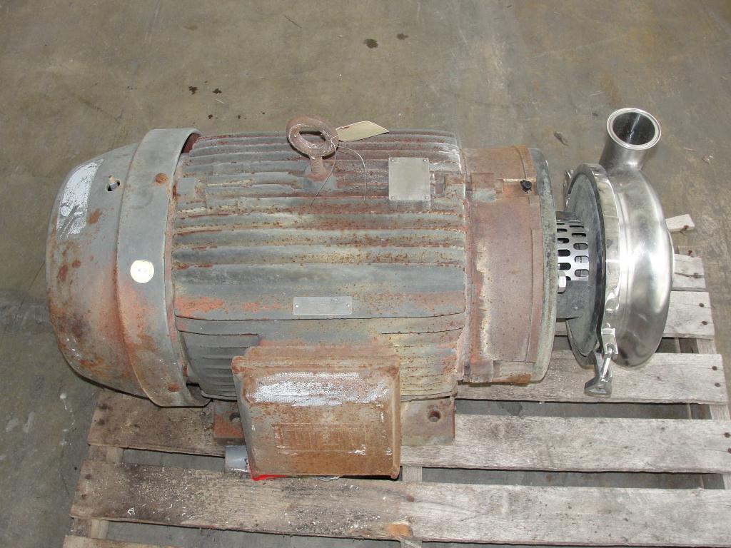 Pump 3x2.5x8.68 Waukesha centrifugal pump, 50 hp, Stainless Steel1