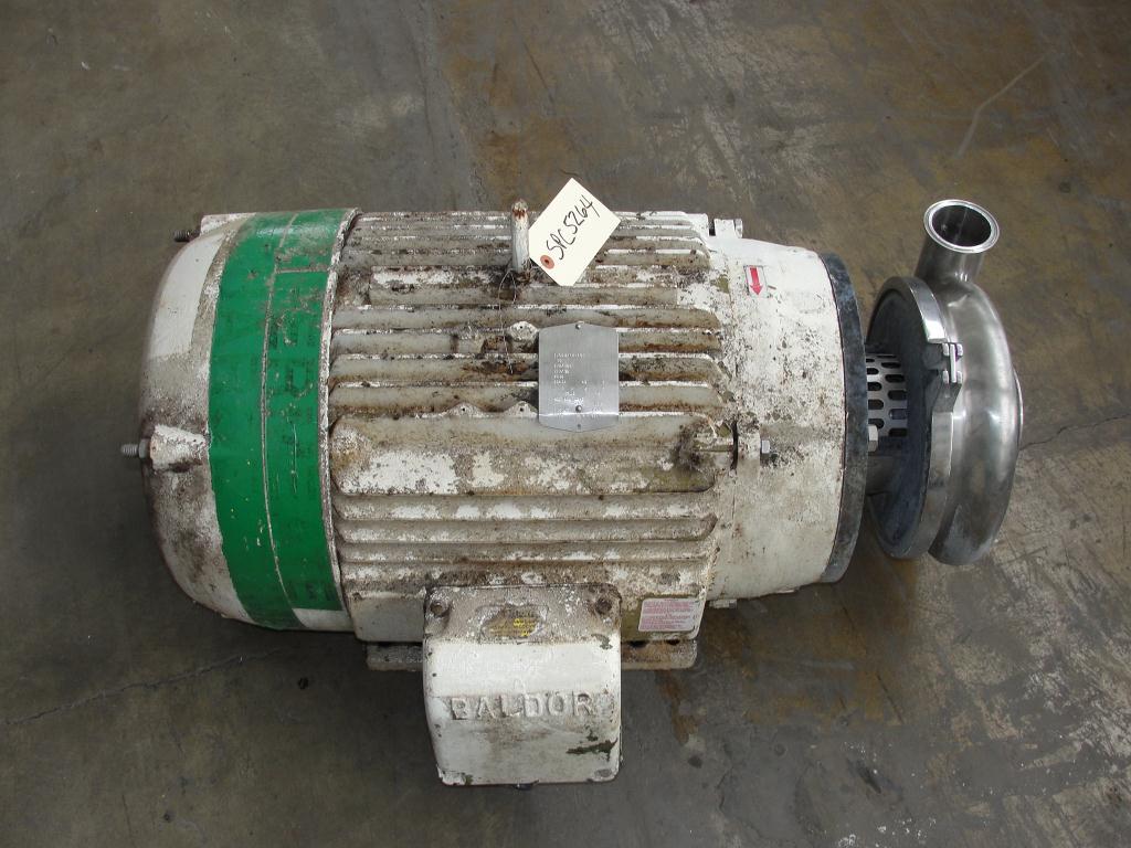 Pump 3x2.5x8.687 Waukesha centrifugal pump, 50 hp, Stainless Steel1