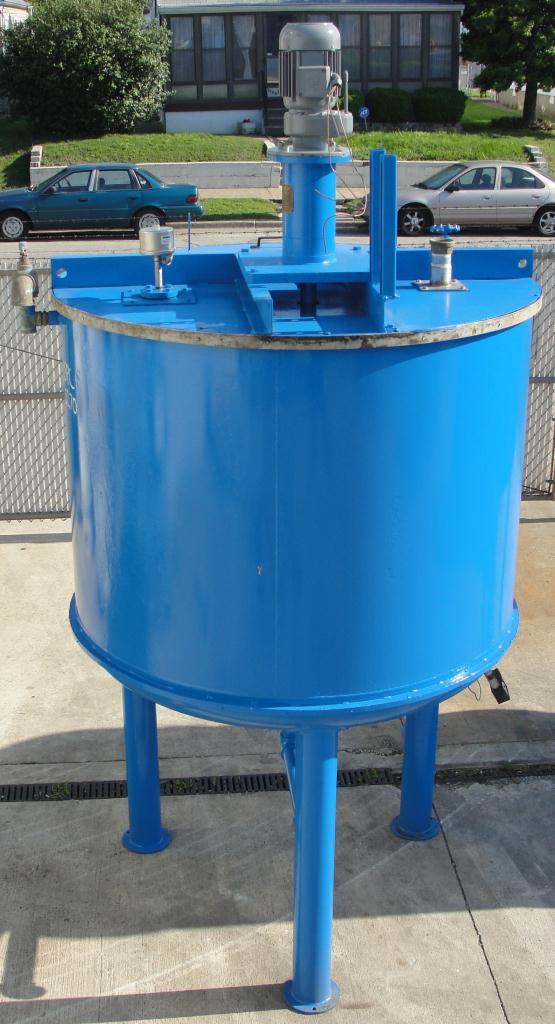 Tank 600 gallon vertical tank, Stainless Steel Contact Parts, 21.7 psi @ 248° F jacket, 1.5 hp agitator, dish Bottom4