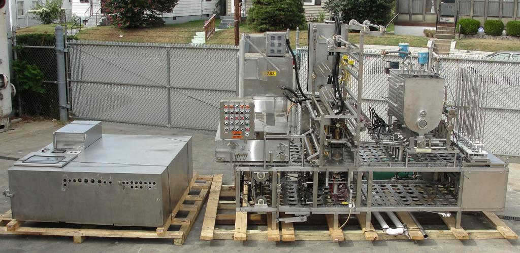 Filler 6 lane, 6 filling heads Autoprod cup filler model FP 1x6, 360 cups per min