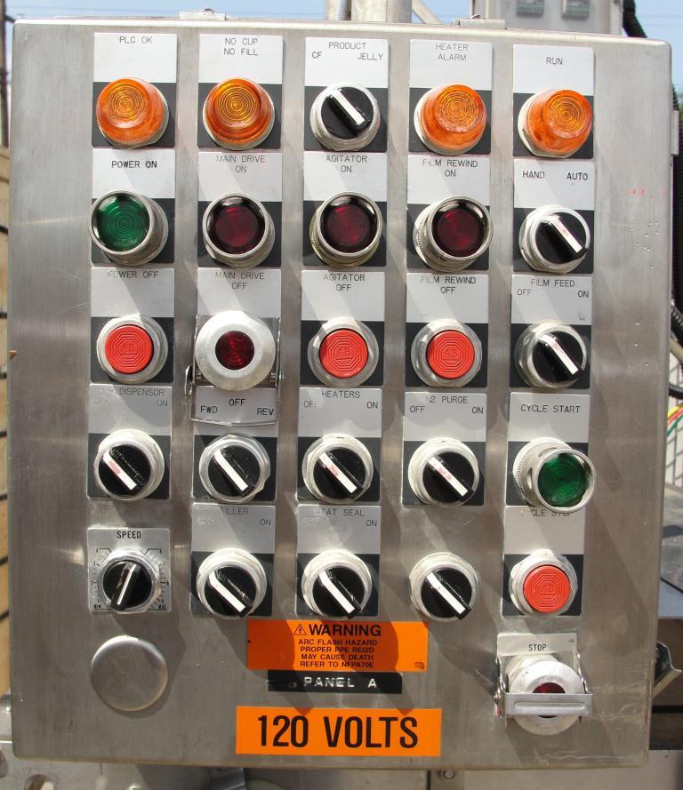 Filler 6 lane, 6 filling heads Autoprod cup filler model FP 1x6, 360 cups per min10