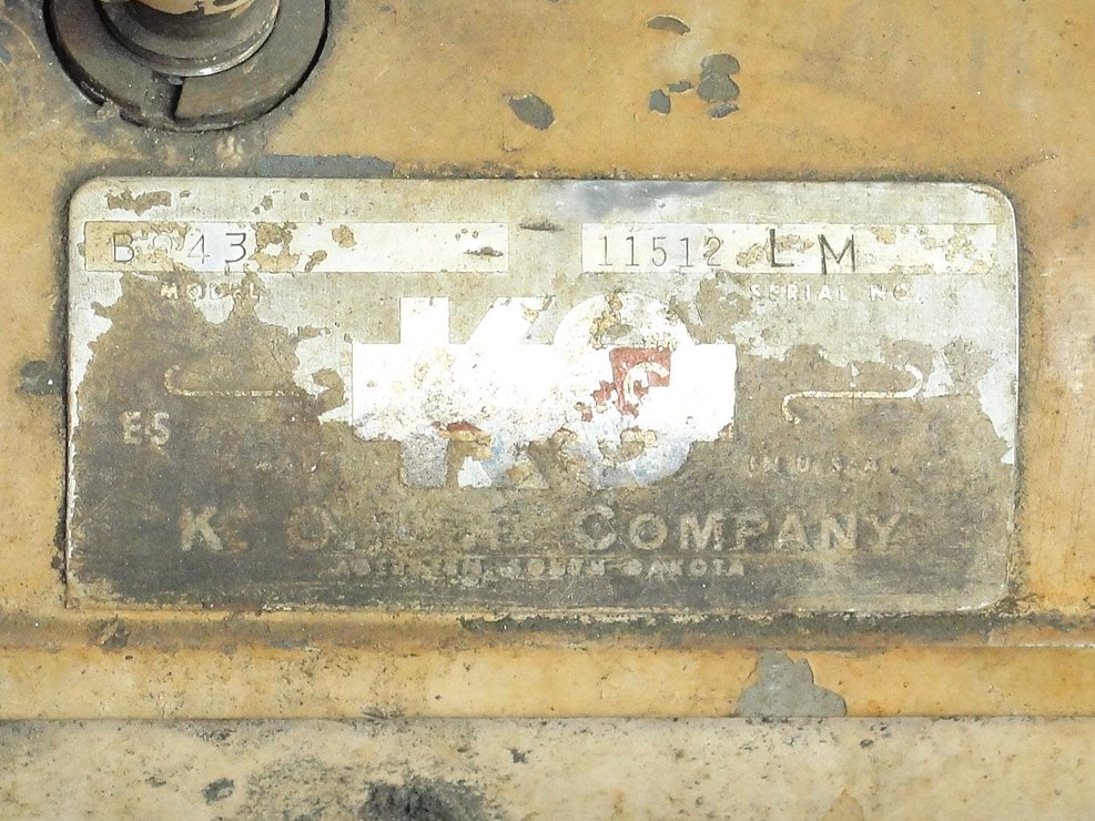Machine Tool K.O. Lee Co. tool sharpener model BA9604