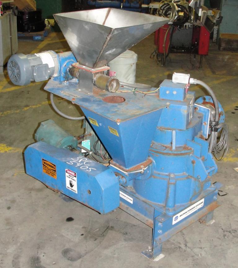 Pulverizer 10ACM Hosokawa Mikro pulverizer mill, 8 feed, CS, 10 hp2
