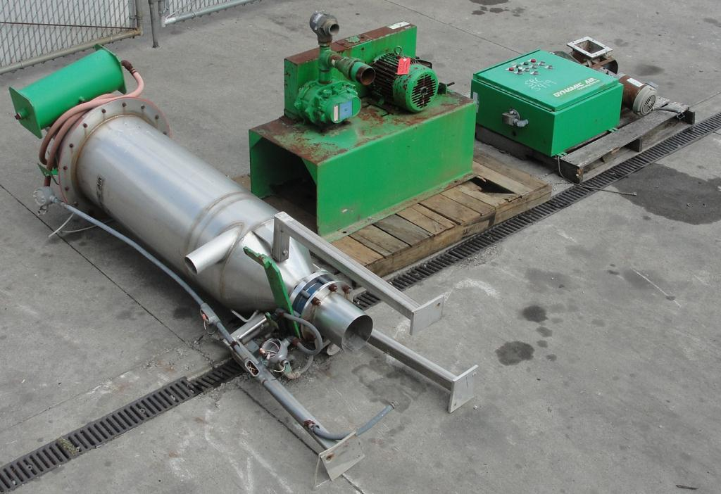 Conveyor Dynamic Air Conveying Systems pneumatic conveyor 304 SS, 3 hp 28 cfm @ 7 psi1