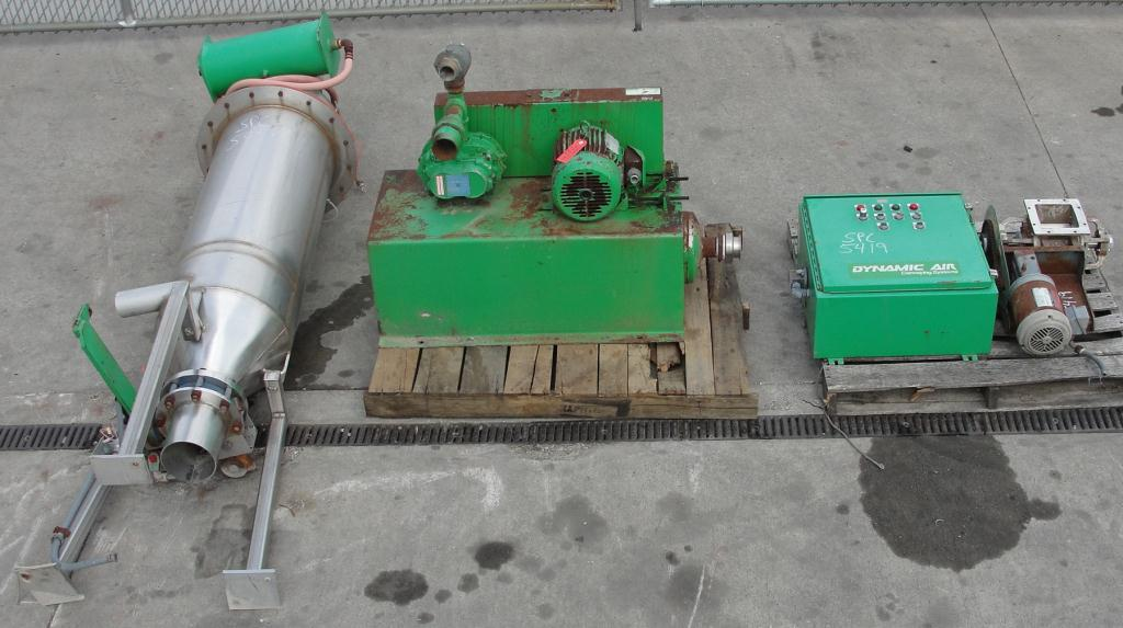 Conveyor Dynamic Air Conveying Systems pneumatic conveyor 304 SS, 3 hp 28 cfm @ 7 psi2