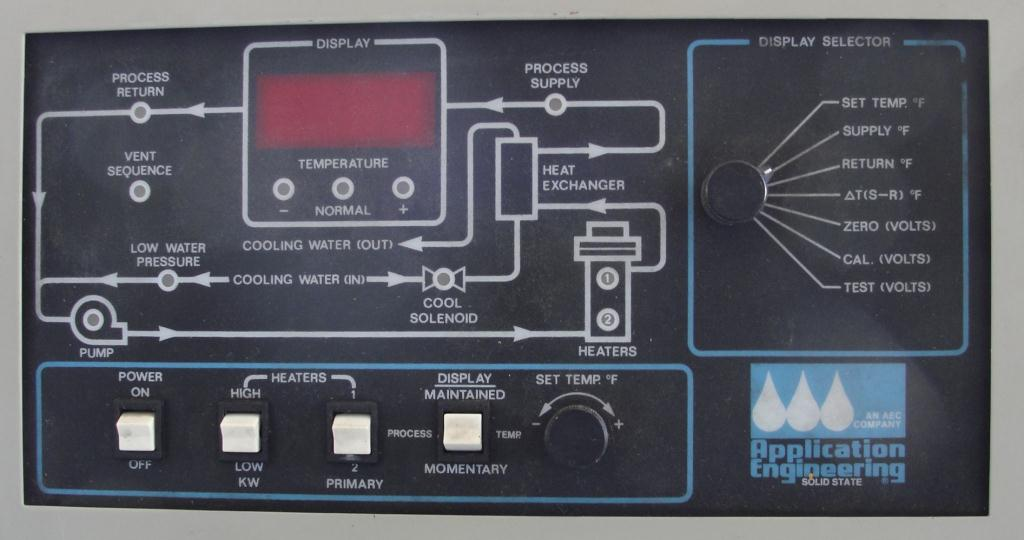 Boiler 9 kw Application Engineering model TDV-1C process temperature control unit, water heater and cooler6