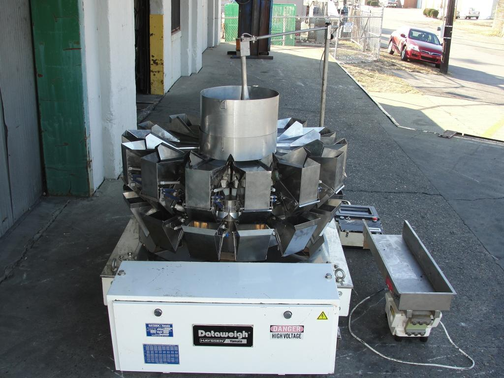Scale 14 bucket Yamato multihead combination weigher model ADW-323-RB, Stainless Steel Contact Parts, 8 to 1600 grams weigher capacity2