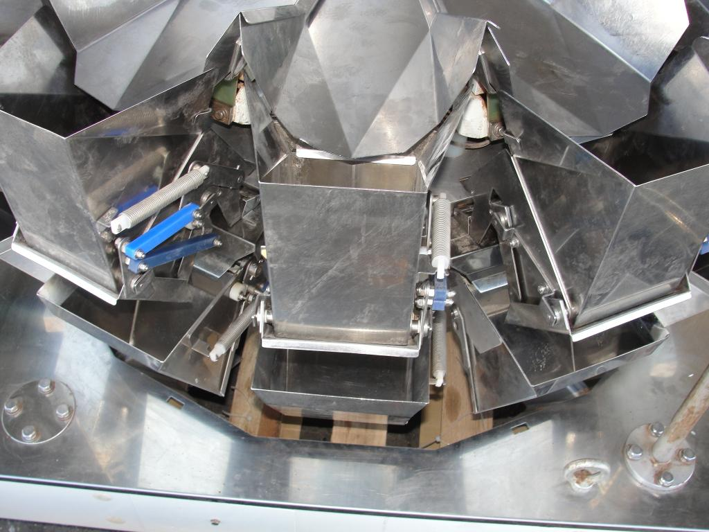 Scale 14 bucket Yamato multihead combination weigher model ADW-323-RB, Stainless Steel Contact Parts, 8 to 1600 grams weigher capacity5