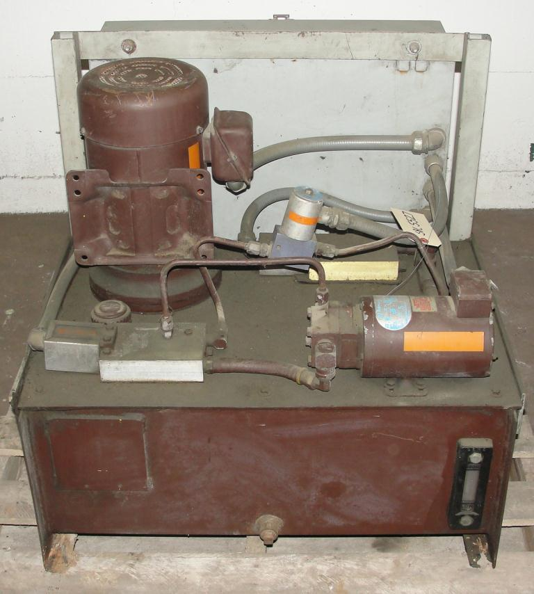 Pump 5 hp Autoquip hydraulic power unit, 23 gallon reservoir tank1