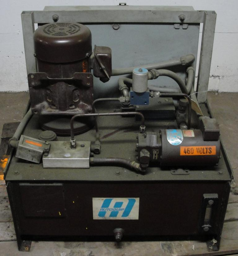 Pump 5 hp Autoquip hydraulic power unit, 23 gallon reservoir tank1