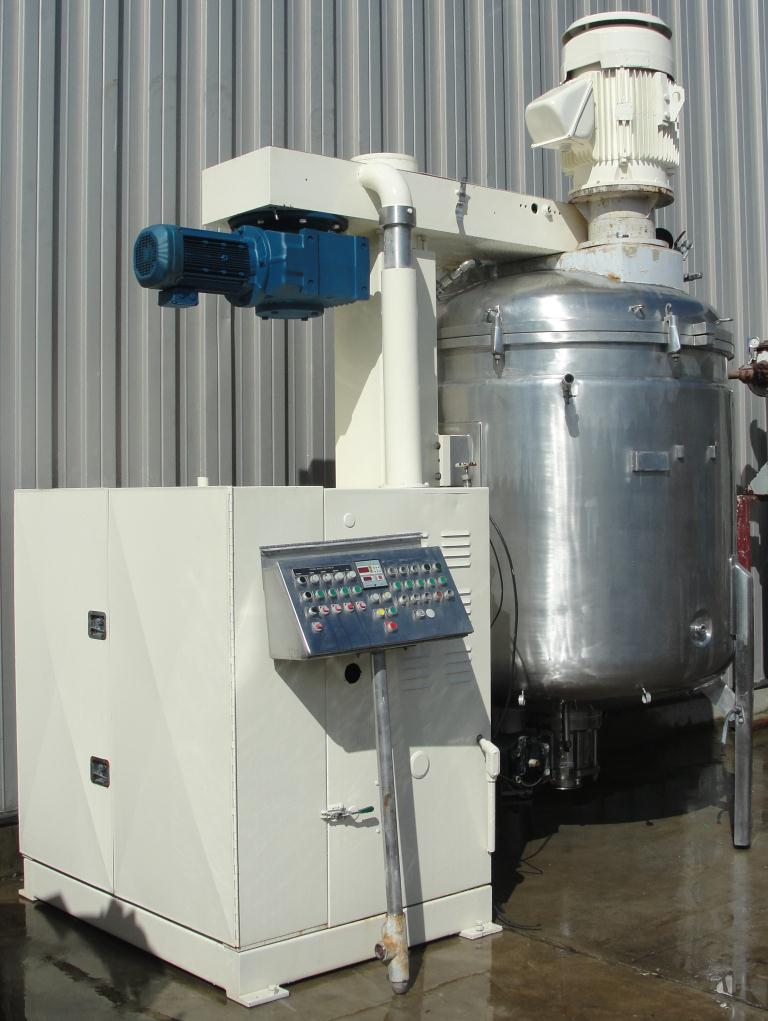 Mixer and Blender 2400 liters capacity Fryma vacuum mixer model VME-2400, side scraping/dispersion agitator agitator, +/- 1 bar @ 150 c internal, 2 bar @ 150 c jacket3