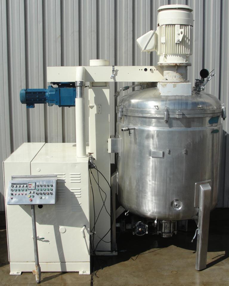 Mixer and Blender 2400 liters capacity Fryma vacuum mixer model VME-2400, side scraping/dispersion agitator agitator, +/- 1 bar @ 150 c internal, 2 bar @ 150 c jacket6