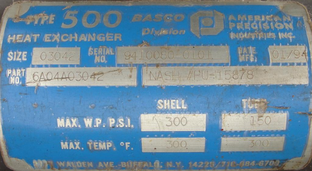 Pump 76 cfm Nash vacuum pump model SC-2 10 hp, CS7