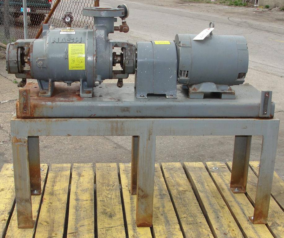Pump 76 cfm Nash vacuum pump model SC-2 10 hp, CS1