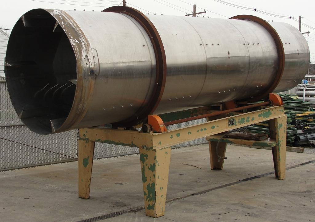 Rotary Cooler 5 dia x 20 long Griffin Industries direct air swept rotary cooler model 5X20, Stainless Steel1