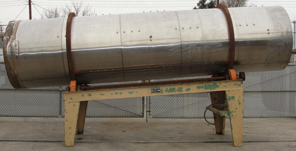 Rotary Cooler 5 dia x 20 long Griffin Industries direct air swept rotary cooler model 5X20, Stainless Steel2