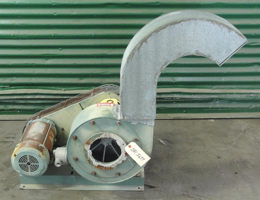 Blower 1000 cfm centrifugal fan New York Blower Co size 106 model Compact GI Fan, 1 hp, Aluminum1