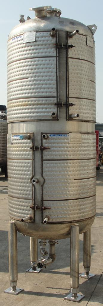 Tank 375 gallon vertical tank, Stainless Steel, 150 psi @ 400° F jacket, dish bottom3