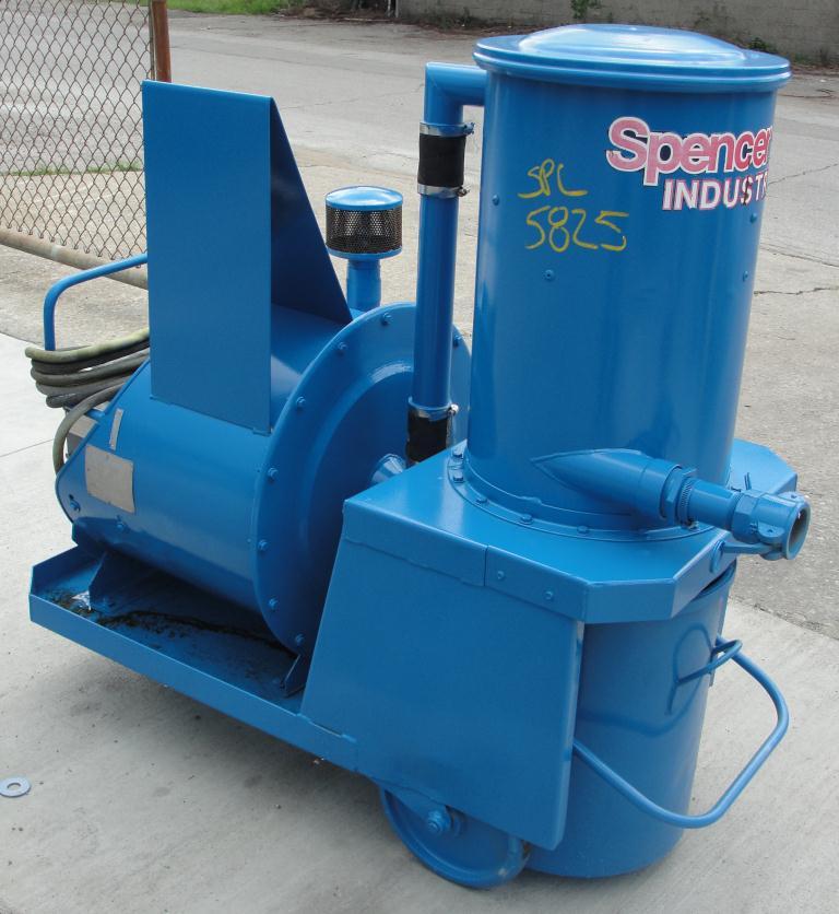 Miscellaneous Equipment 2 hp 70 cfm Spencer industrial vacuum cleaner model P-1342