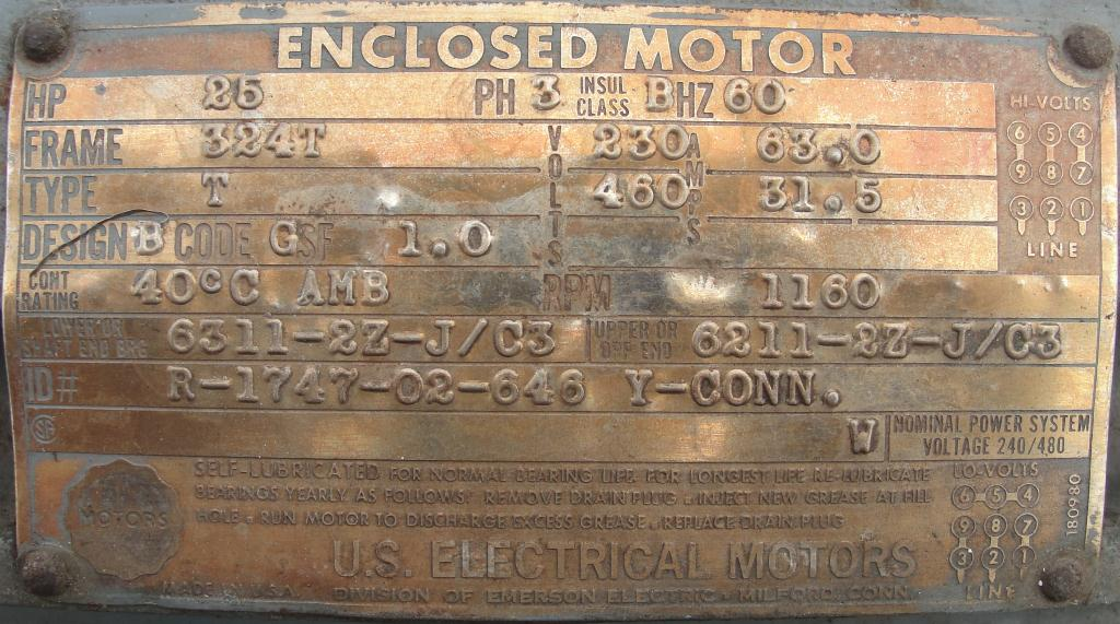 Pump 450 cfm Nash vacuum pump model SC-5 25 hp, CS6