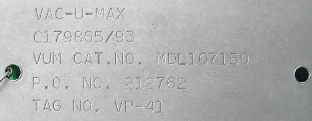 Blower 67 cfm, positive displacement blower Vac-U-Max, 3 hp7