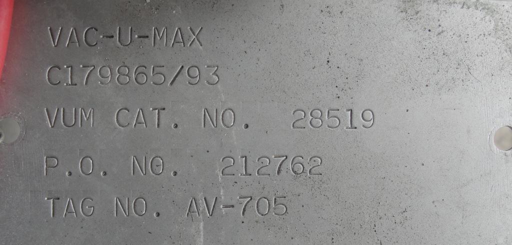 Blower 67 cfm, positive displacement blower Vac-U-Max, 3 hp11